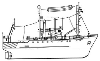 схема рыболовецкий  траулер