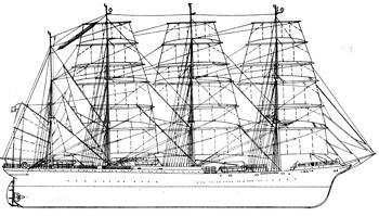 Sailing training vessel