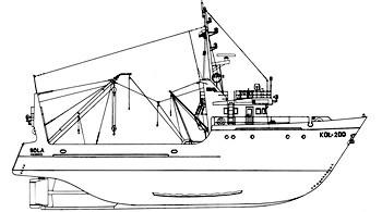 чертежи моделей рыболовных судов