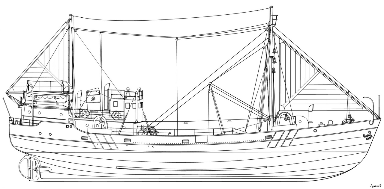 схема рыболовный траулер