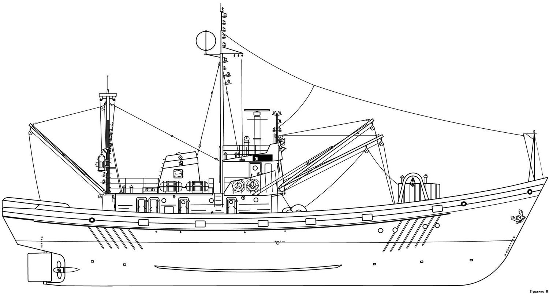 малый рыболовный сейнер-чертежи